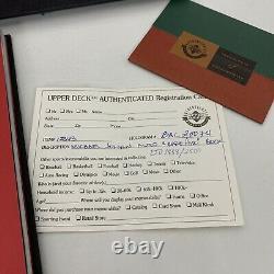 Michael Jordan Signé Livre D'air Rare Autographié Pont Supérieur Uda 1858/2500