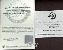 Michael Jordan Signé Nba Spalding Basketball Uda Coa Avec Boîte D'origine Bold Auto