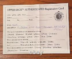 Michael Jordan Signé Nike Basketball Baseball Uda Upper Deck Authentifié Goat