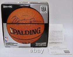 Michael Jordan Signé Spalding Nba Basketball Uda Deck Supérieur Authentifié Coa