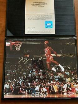 Michael Jordan Signé Uda 8x10 Slam Dunk Contest