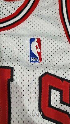 Michael Jordan Signé (argent) White Bulls Nike Pro Cut 97-98 Rare Uda Mint