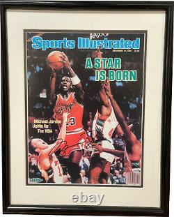 Michael Jordan Signed'84 Sports Illustrated A Star Is Born Magazine Cover-uda