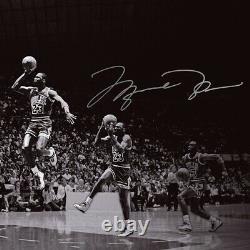 Michael Jordan Signed Autographed 18x36 Photo We Have Liftoff Bulls #/123 Uda