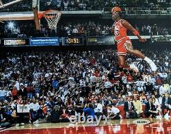Michael Jordan Signed Autographed 8x10 1988 Slam Dunk Photo Uda Upper Deck