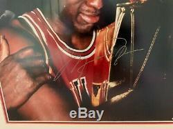 Michael Jordan Uda 16x20 Championship Trophy Autograph Framed Upper Deck