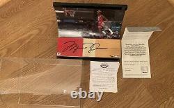 Michael Jordan Uda Autograph Game Floor Seulement 5 3 Pièces De Couleur Faites Auto Signées