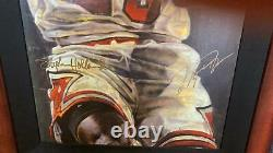 Michael Jordan Uda Autographe Giclee Sur Toile Encadré Par Stephen Holland Bulls