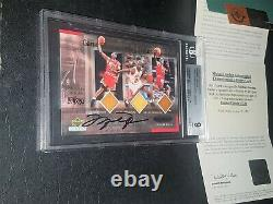 Michael Jordan Uda Floor Bulls Bgs 9 Auto 10 Pop 2 Pas De Psa Rookie 57 Lebron Patch