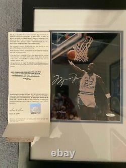 Michael Jordan Uda Unc Autographe Avec Dean Smith & Lettre D'intention Caroline Du Nord
