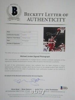 Michael Jordan Uda Upper Deck Authentifié Signé 8x10 Autograph Photo #45