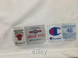 Michael Jordan Uda Upper Deck Signé Champion Autograph Jeu Jersey Publié 95-96