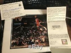 Michael Jordan Upper Deck Assermentée Gatorade Autographié Photo 8x10 Uda
