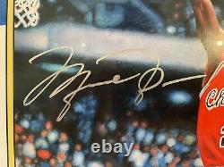 Michael Jordan Upper Deck Signé 1986 Fleer Rookie Rc Blowup Card Uda Auto Rare