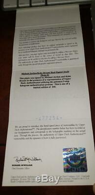 Michael Jordan Vs Kobe Bryant Uda Upper Deck 16x20 Double Automatique Signé # 112/200 Coa