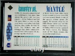 Mickey Mantle Ken Griffey Jr Dual Signé 1994 Haut Pont Uda Carte Psa/dna Auto