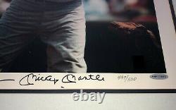 Mickey Mantle Signé Auto Psa/adn Uda 16x20 Photo Deck Supérieur Leifer Autographe