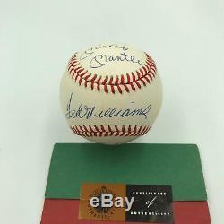 Mickey Mantle Ted Williams Carl Yastrzemski Triple Couronne Signé Baseball Uda Coa