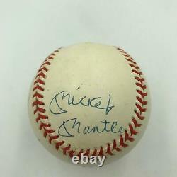 Mickey Mantle Ted Williams Carl Yastrzemski Triple Couronne Signée Baseball Uda Coa