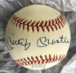 Mickey Mantle Uda Autographe, Single Signed Romlb Ball, Yankees Hof The Mick