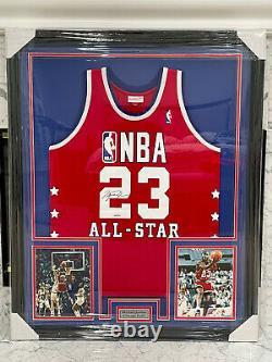 Mitchell & Ness 1989 Michael Jordan All-star Uda Coa Signé Jersey Personnalisé Encadré