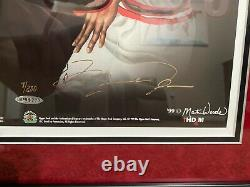 Nba Décennie Légendes Signé 20x24 Encadré Michael Jordan Wilt Chamberlain Uda Coa