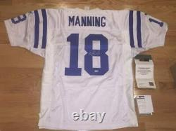 Peyton Manning Autographed Authentique NFL Blanc Puma Jersey Uda Upperdeck