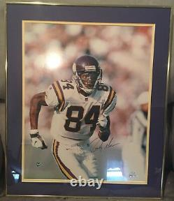 Randy Moss Minnesota Vikings Autographiés 16x20 Photo Encadrée #'d 1/84 (uda)
