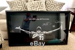 Rare Lebron James Signé Framed Nike Uda Le Témoin Photo 23 Upper Deck Auto