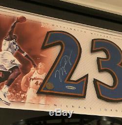 Rare Michael Jordan Uda Signé 17x23 Assistants De Nice Auto Afficher Autograph Jsa Psa