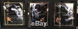 Rare Set Lebron James Michael Jordan Kobe Bryant Le 50 Autosigné Framed Uda Ud