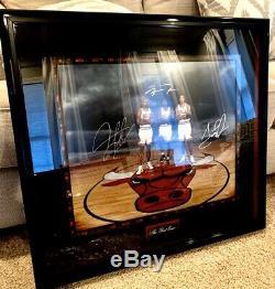 Rare Uda Coa Le Jordan Pippen Rodman Auto Signé Upper Deck Museum Framed Bulls