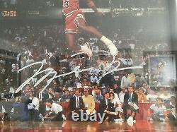 Rare Vintage Mj Michael Jordan Affiche Signée Original Uda Upper Deck Auto Nike