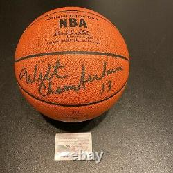 Rare Wilt Chamberlain Uda Signé Spalding Nba Game Basketball Upper Deck Coa