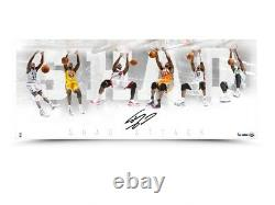 Shaquille O'neal Signé Autographié 36x15 Photo Shaq Attack Lakers #/50 Uda