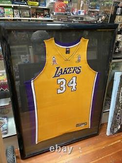 Shaquille Oneal Signé Jersey Uda /134 Encadré Los Angeles Lakers