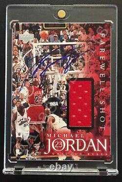 Signé 1999 Michael Jordan Upper Deck Ud Employee Game Jersey Bulls Uda Coa Auto