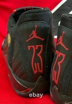 Signé Original 1998 Nike Air Jordan 14 Nba Finals Last Shot Shoes Autograph Uda