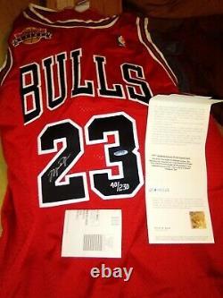 Signé Uda Michael Jordan Prend Sa Retraite Patch Autograph Nike Jersey Upper Deck Coa