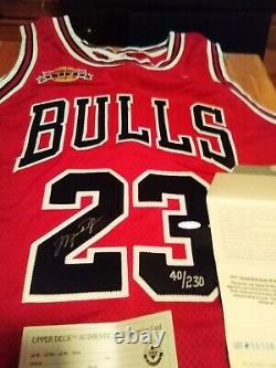 Signé Uda Michael Jordan Retire Patch Autograph Nike Jersey Upper Deck Coa