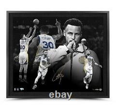 Stephen Curry Signé Autographed 20x24 Framed Photo Mvp Warriors /30 Uda