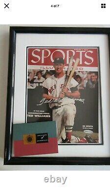 Ted Williams A Signé Autograph Baseball Sports Illustrated Cover Uda Coa, Si