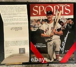 Ted Williams A Signé Photo De Sports Illustrated Couverture De 1955 Avec Uda Coa