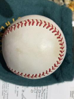 Ted Williams Autographié American League Baseball Avec Original Box Uda