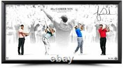 Tiger Woods Autographed Victory 36 X 18 Framed Photograph Uda Le 80