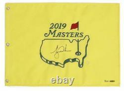 Tiger Woods Autographié 2019 Le Drapeau De L'épingle Masters Uda Le 1000