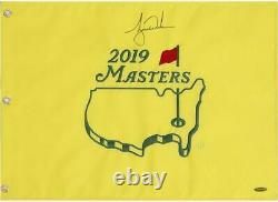Tiger Woods Signé Autographed 2019 Masters Championship Pin Flag Uda High Deck
