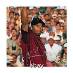 Tiger Woods Signé Autographié 20x24 Photo 2001 Masters Uppper Deck Uda