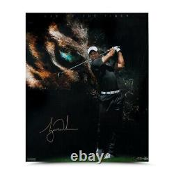 Tiger Woods Signé Autographié 20x24 Photo Eye Of The Tiger #/100 Uda