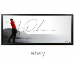 Tiger Woods Signé Autographié 20x46 Photo Encadrée Le Spectacle Énorme Signature Uda
